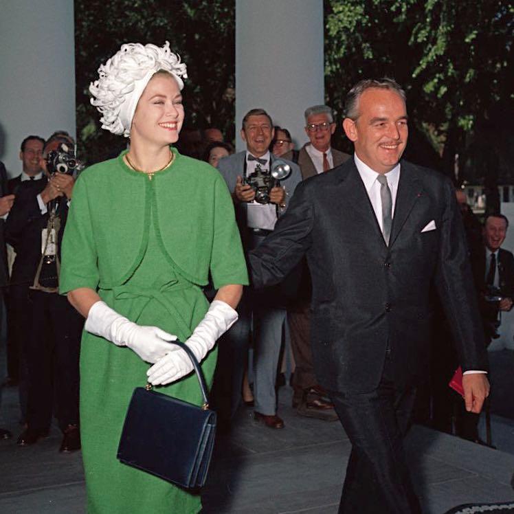 Su Altezas Serenísimas los príncipes Grace y Raniero III de Mónaco.
