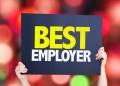 cartel con Mejor empleador.