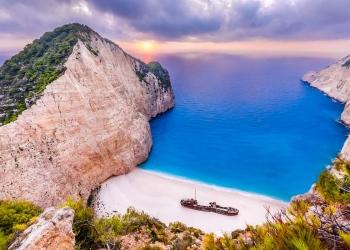 Playa de Navagio en Grecia
