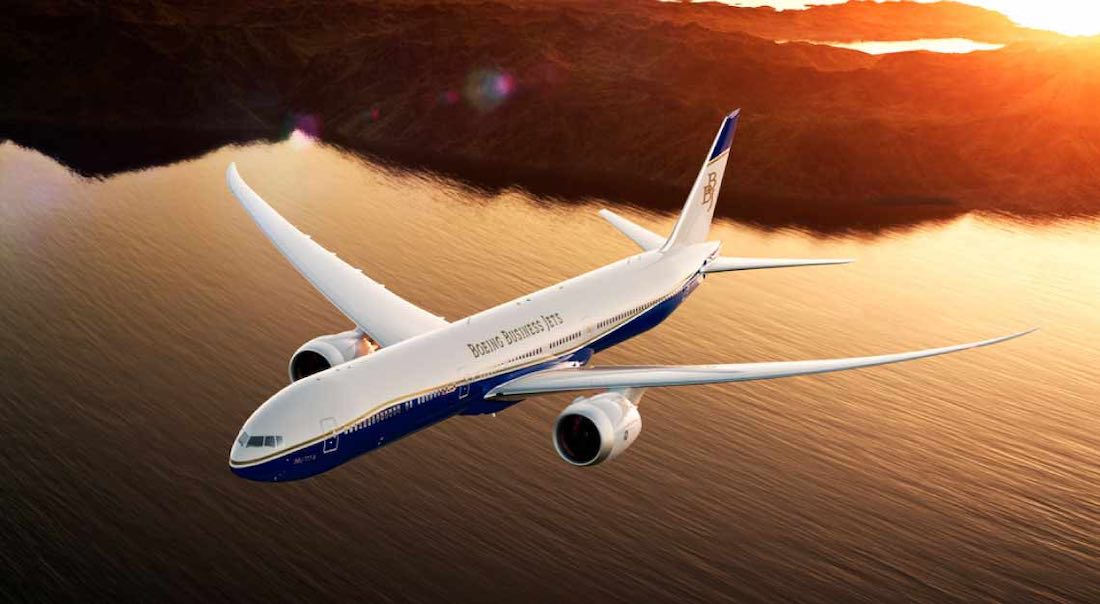 Los jets privados de mayor alcance del mundo en 2021: Boeing Business Jet 777X