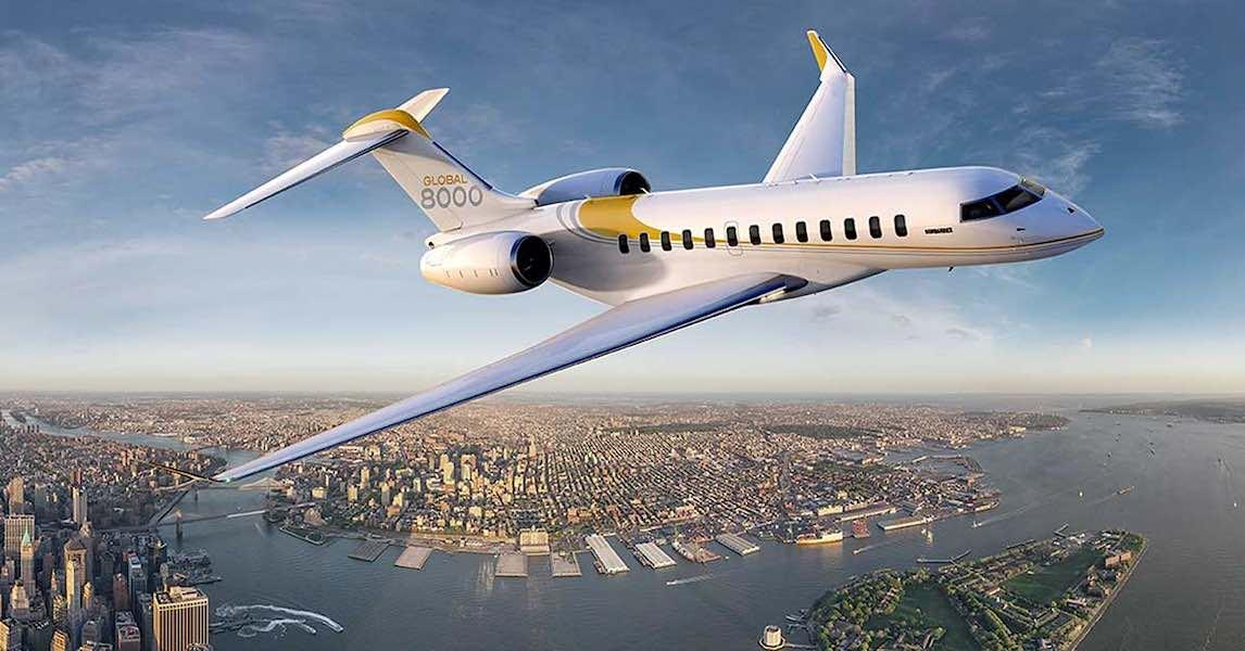 Los jets privados más rápidos del mundo: Bombardier Global 8000