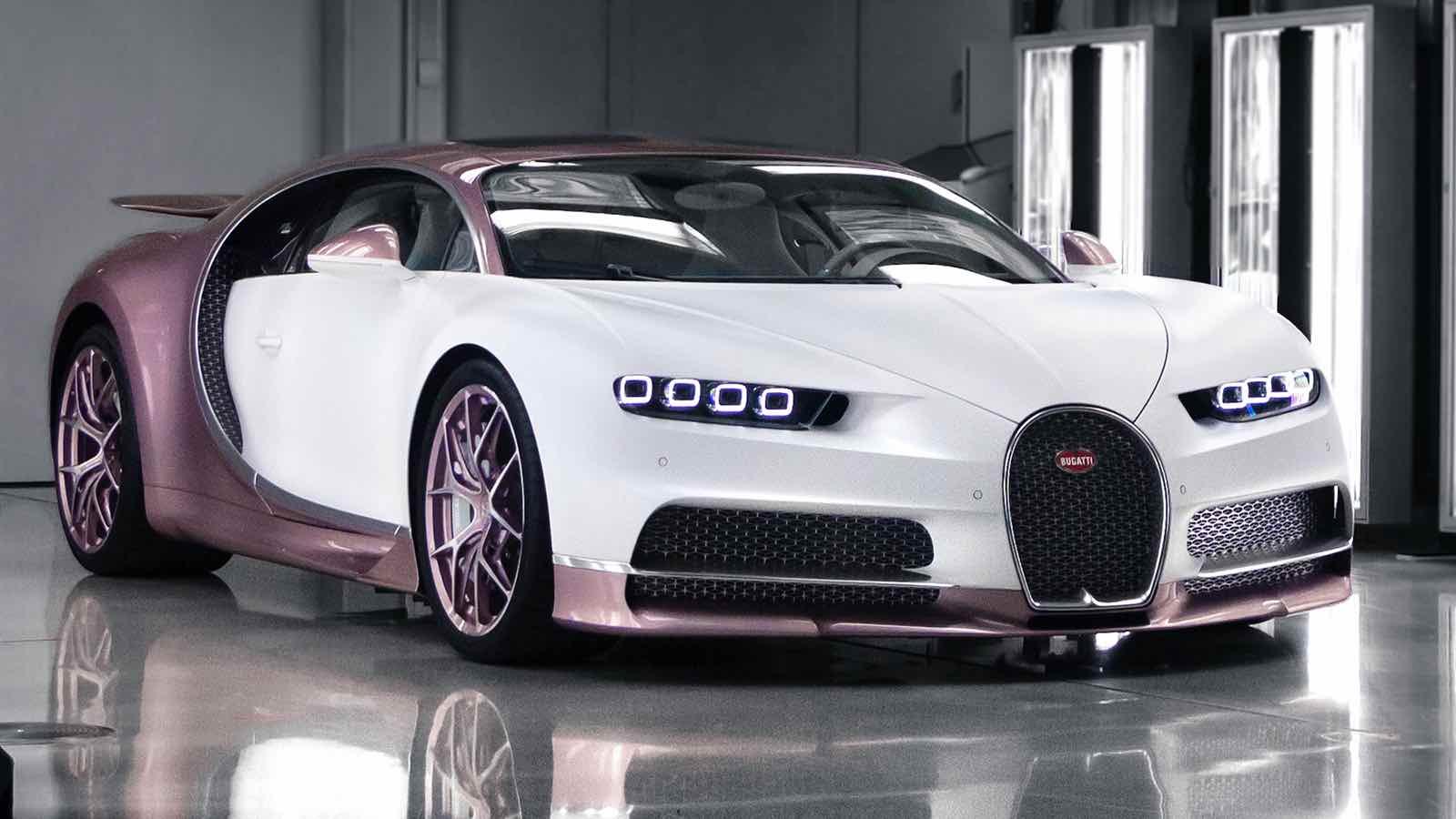 Esposo regala un Bugatti Chiron Sport color rosa a su esposa para el Día de San Valentín