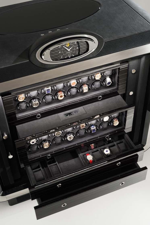 Safes con rebobinador de relojes, el complemento perfecto para lucir tu exclusiva colección de relojes.