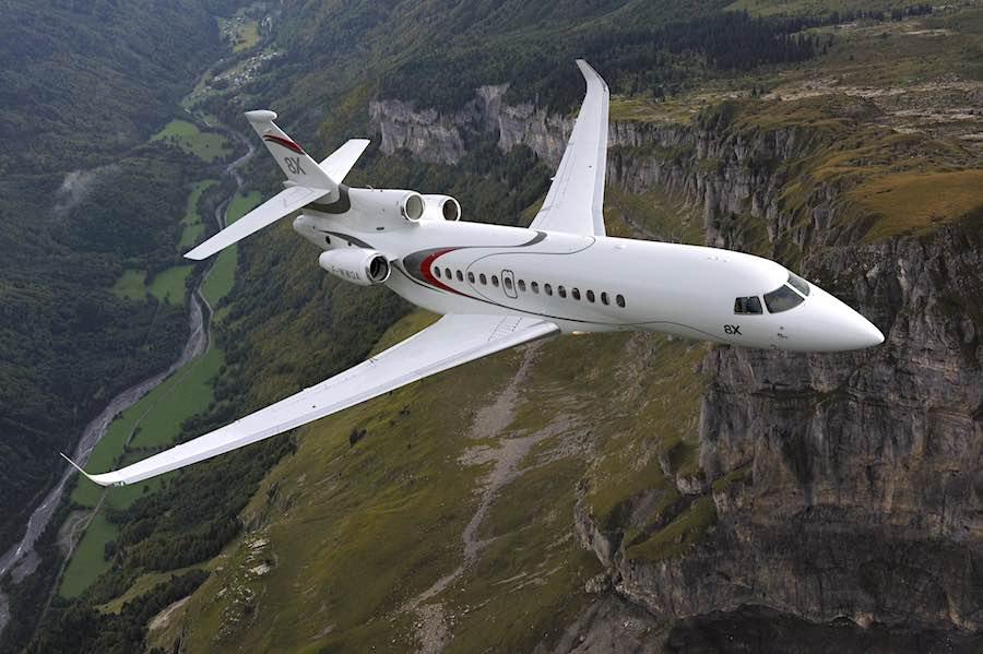 Los jets privados de mayor alcance del mundo en 2021: Dassault Falcon 8X