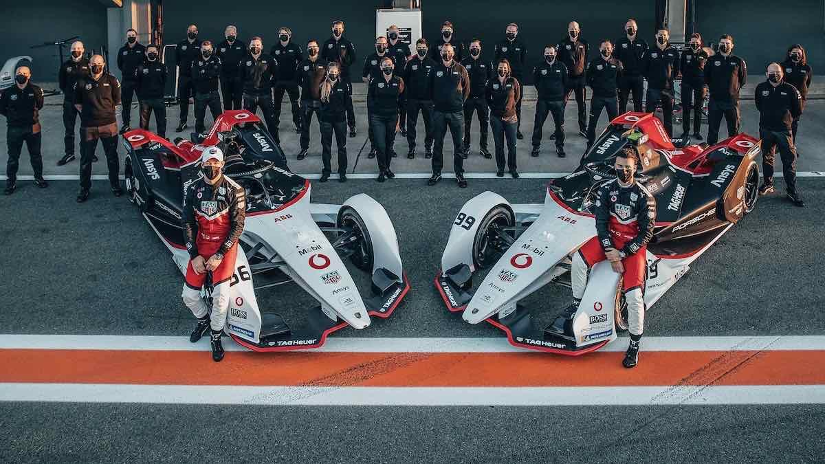 El equipo TAG Heuer Porsche de Fórmula E.