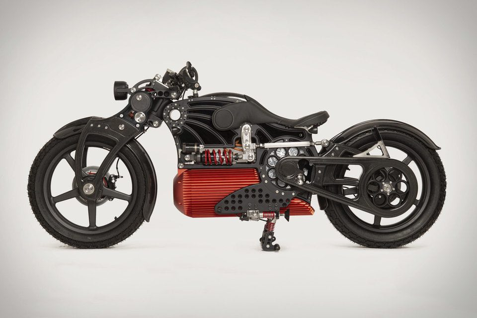 Curtiss Motorcycles presenta una impresionante motocicleta hecha a mano.