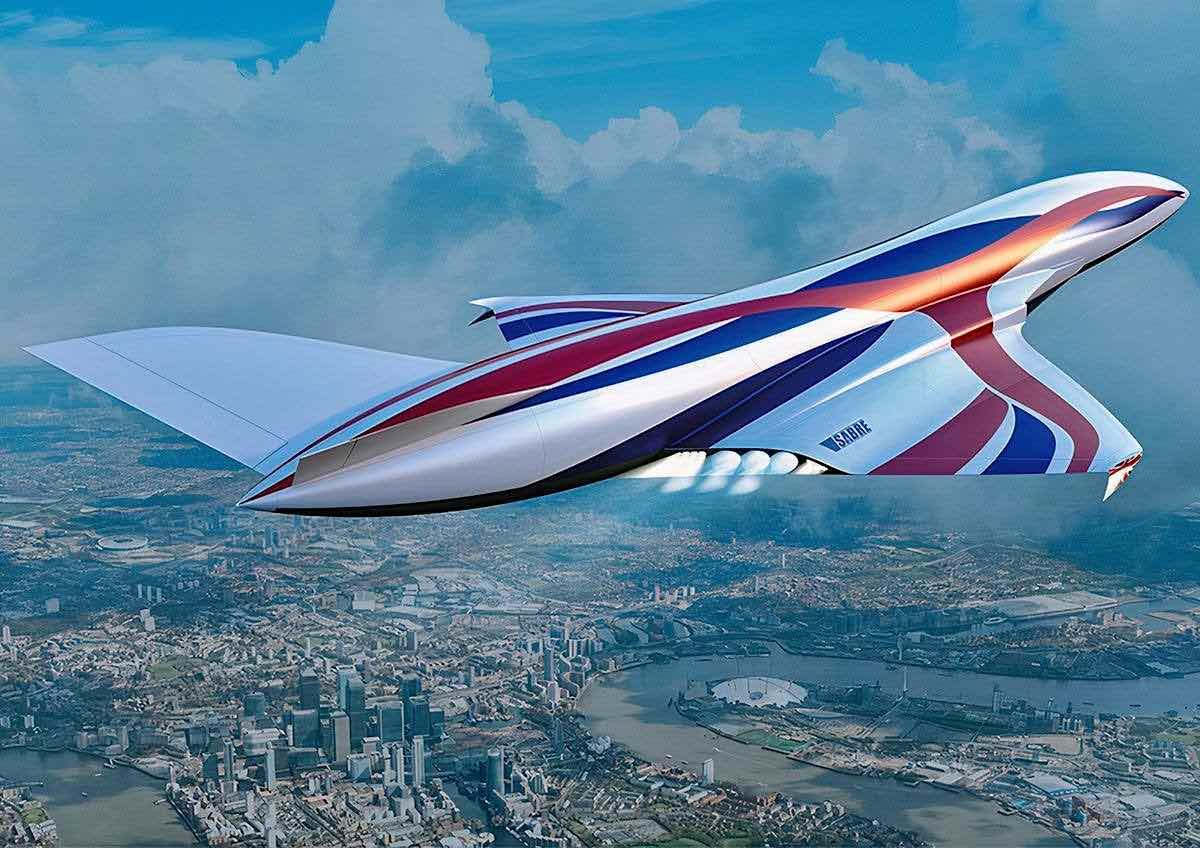 Este avión hipersónico impulsado por revolucionarios motores SABRE te llevará de Nueva York a Londres en sólo 60 minutos