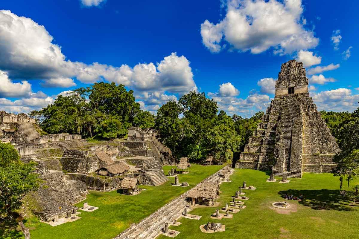 Antiguas ruinas Mayas.