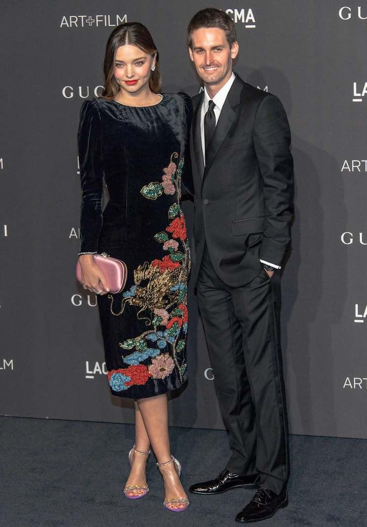 Evan Spiegel y Miranda Kerr