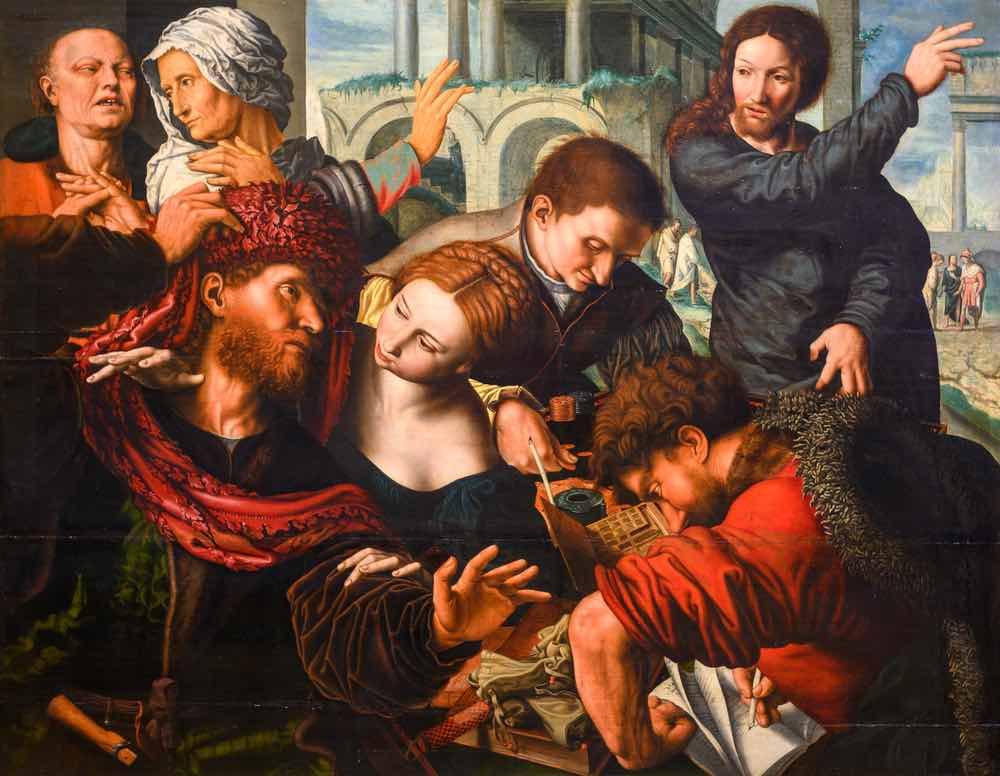 """""""La vocación del apóstol Mateo"""" por Jan Sanders van Hemessen (c. 1500 - c. 1566)"""