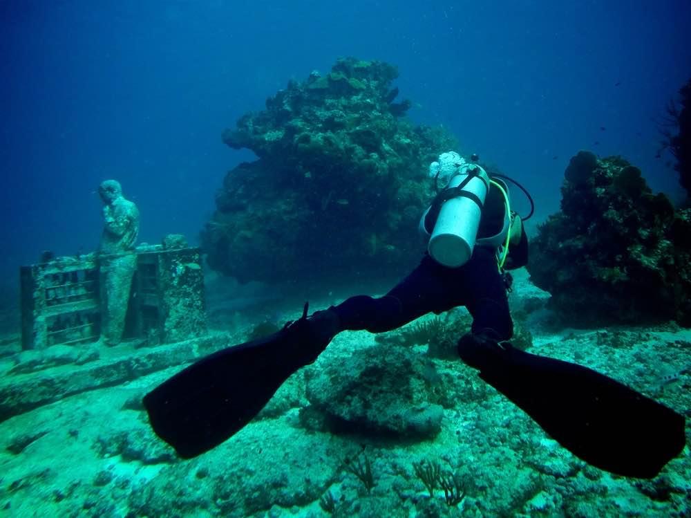 Museo subacuático de Cancún.