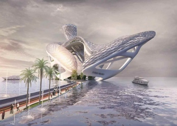 Dubai está construyendo un enorme y futurista complejo de entretenimiento en la forma de un corazón gigante con el pasillo de cristal sobre el mar más largo del mundo