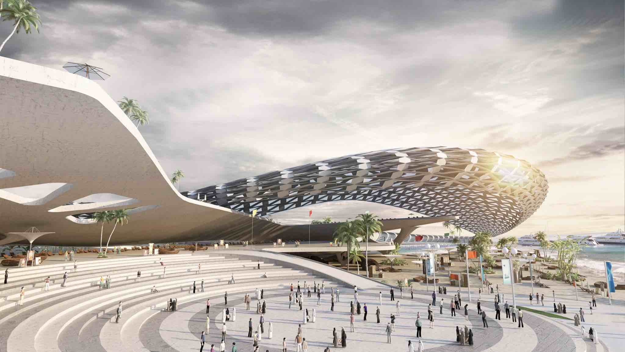 """El complejo incluirá espacios para un """"centro comercial de arte en la arena"""" con una bahía de surf artificial, un anfiteatro y más."""