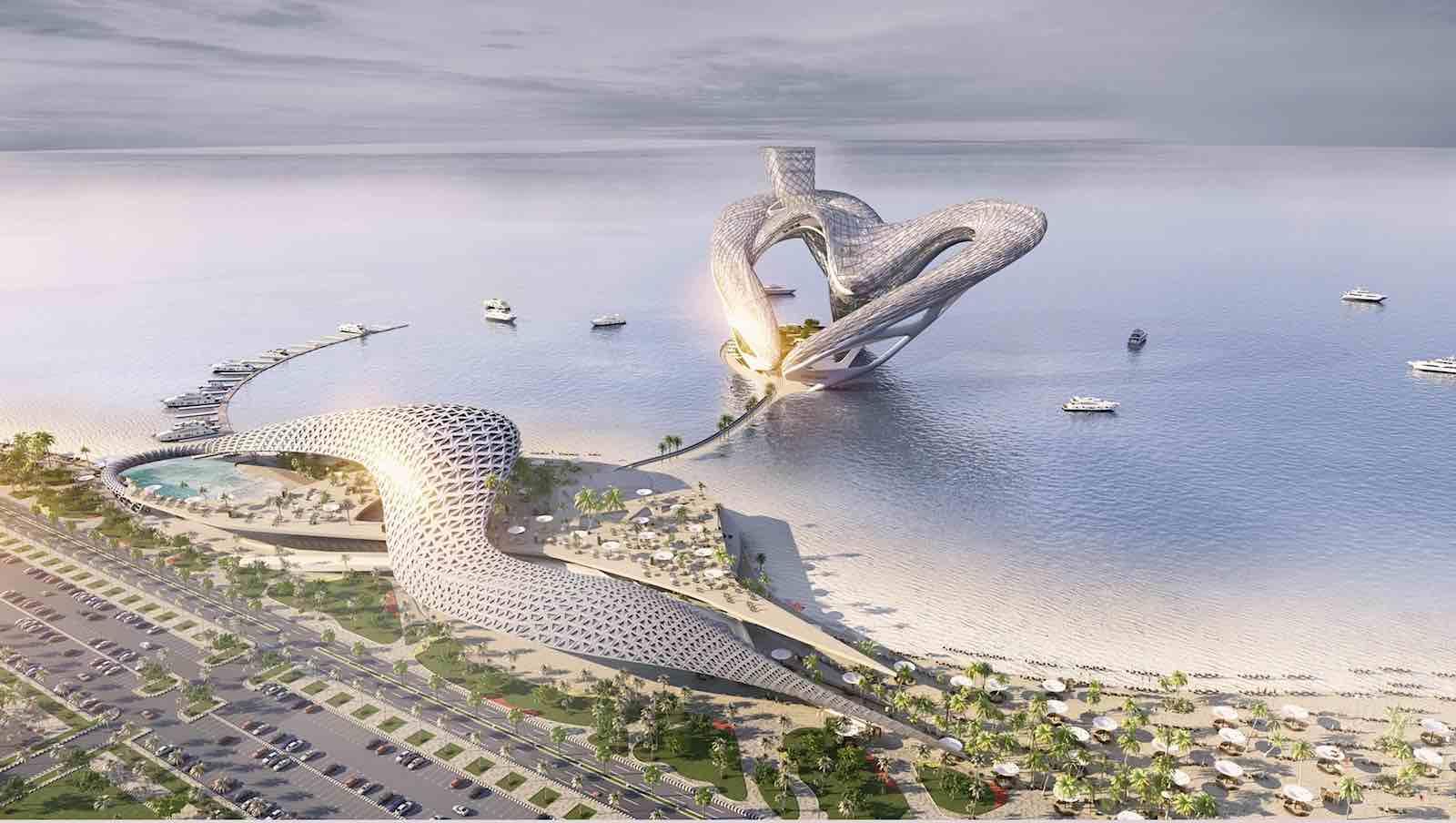 """Entre al """"Dubai Heart (Corazón de Dubai)"""": un proyecto conceptual para un próximo destino de entretenimiento en la playa de Jumeirah."""