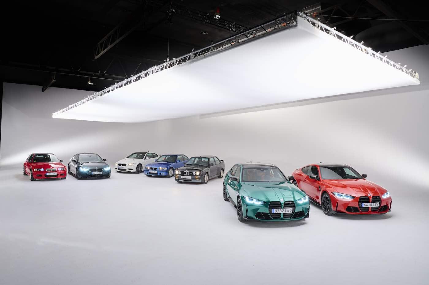 El fabricante alemán reunió las 5 generaciones anteriores para conmemorar sus más de 35 años que cumple como la mejor berlina deportiva de todos los tiempos.