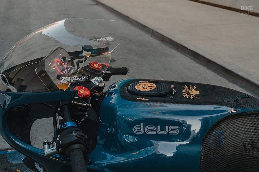 Increíble motocicleta Café Racer personalizada.