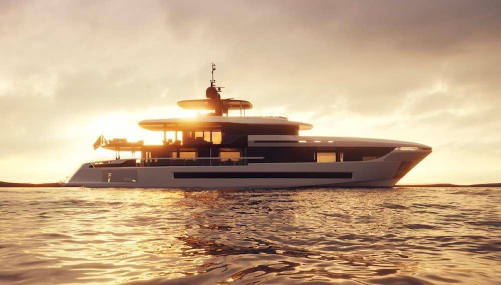 Overmarine reveló una nueva embarcación de 39 metros y de tres cubiertas.