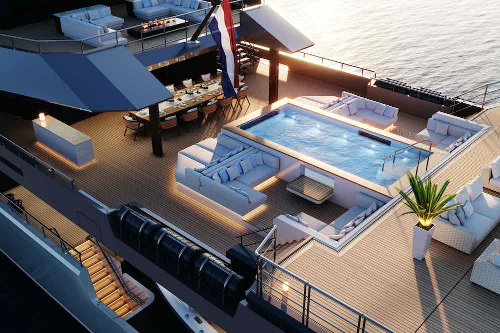 Damen Yachting presentó un nuevo diseño para el superyate SeaXplorer 77