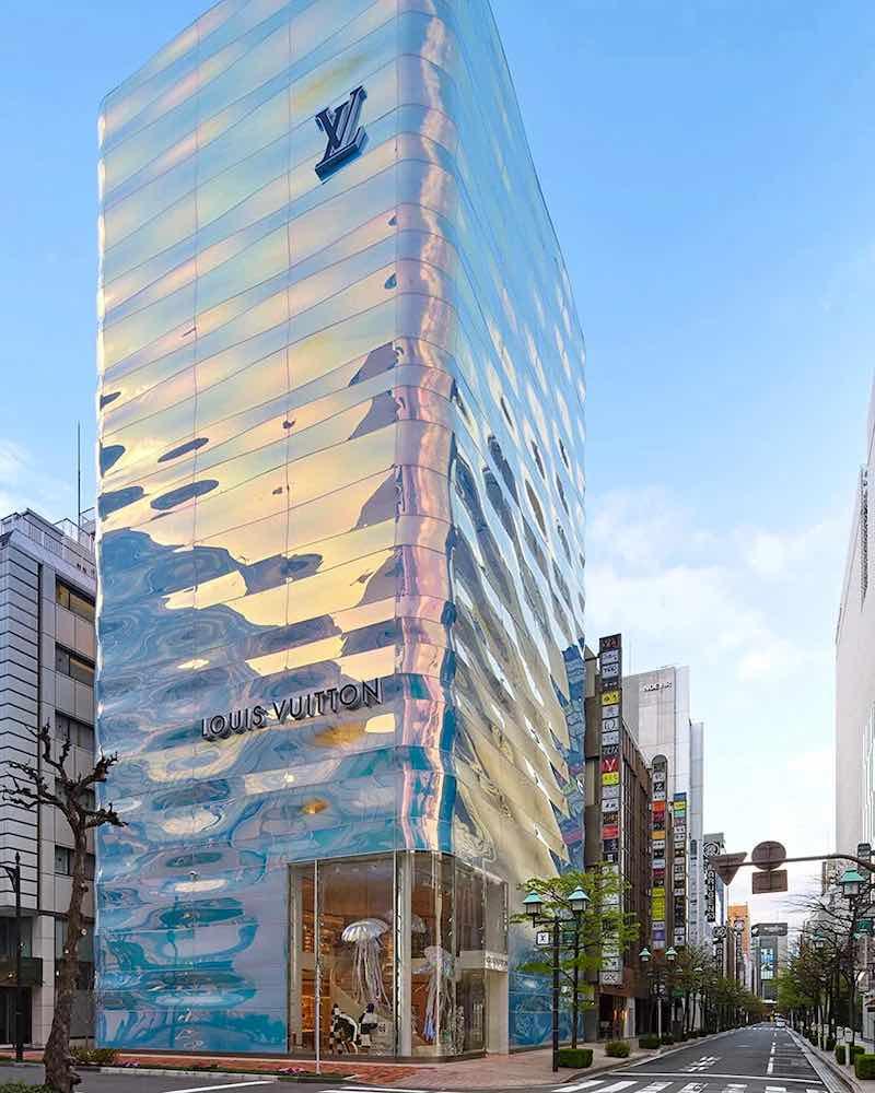 La boutique de la marca francesa en Tokio, Japón.