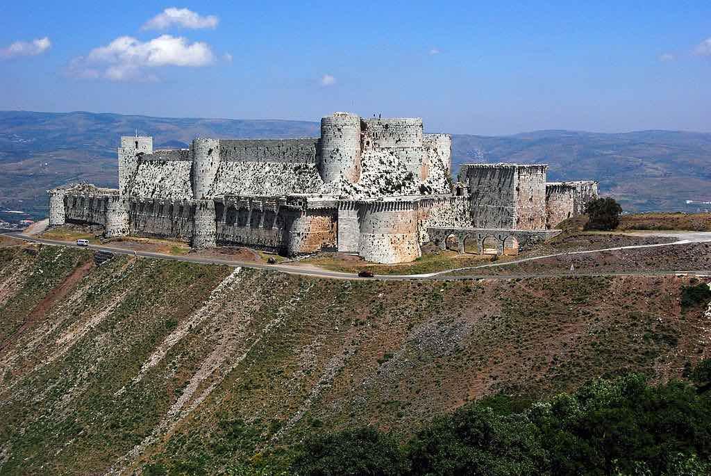 Siria - Visitar el castillo medieval Crac de los Caballeros.