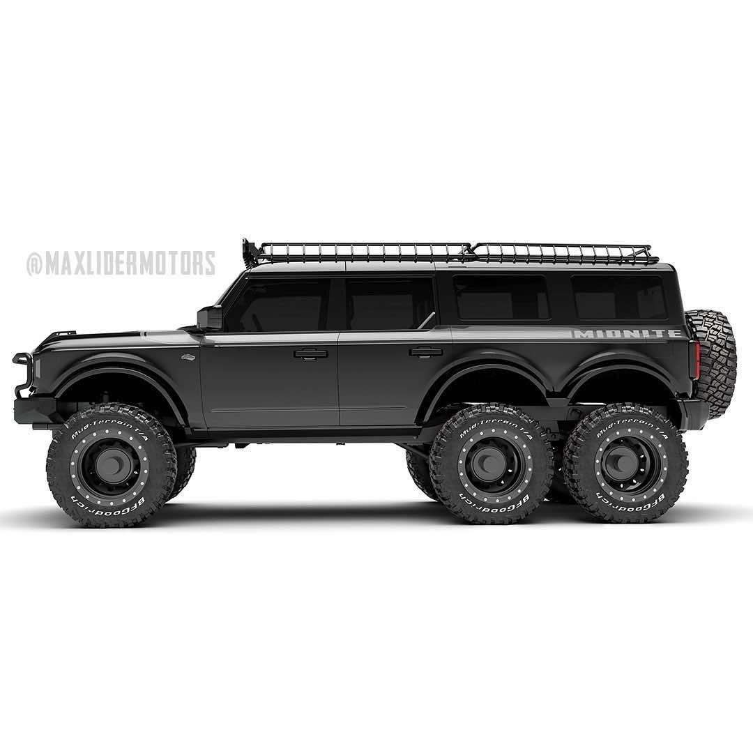 Camioneta Ford Bronco 6x6 2021: Un monstruo de 6 ruedas con un costo de 399.000 dólares