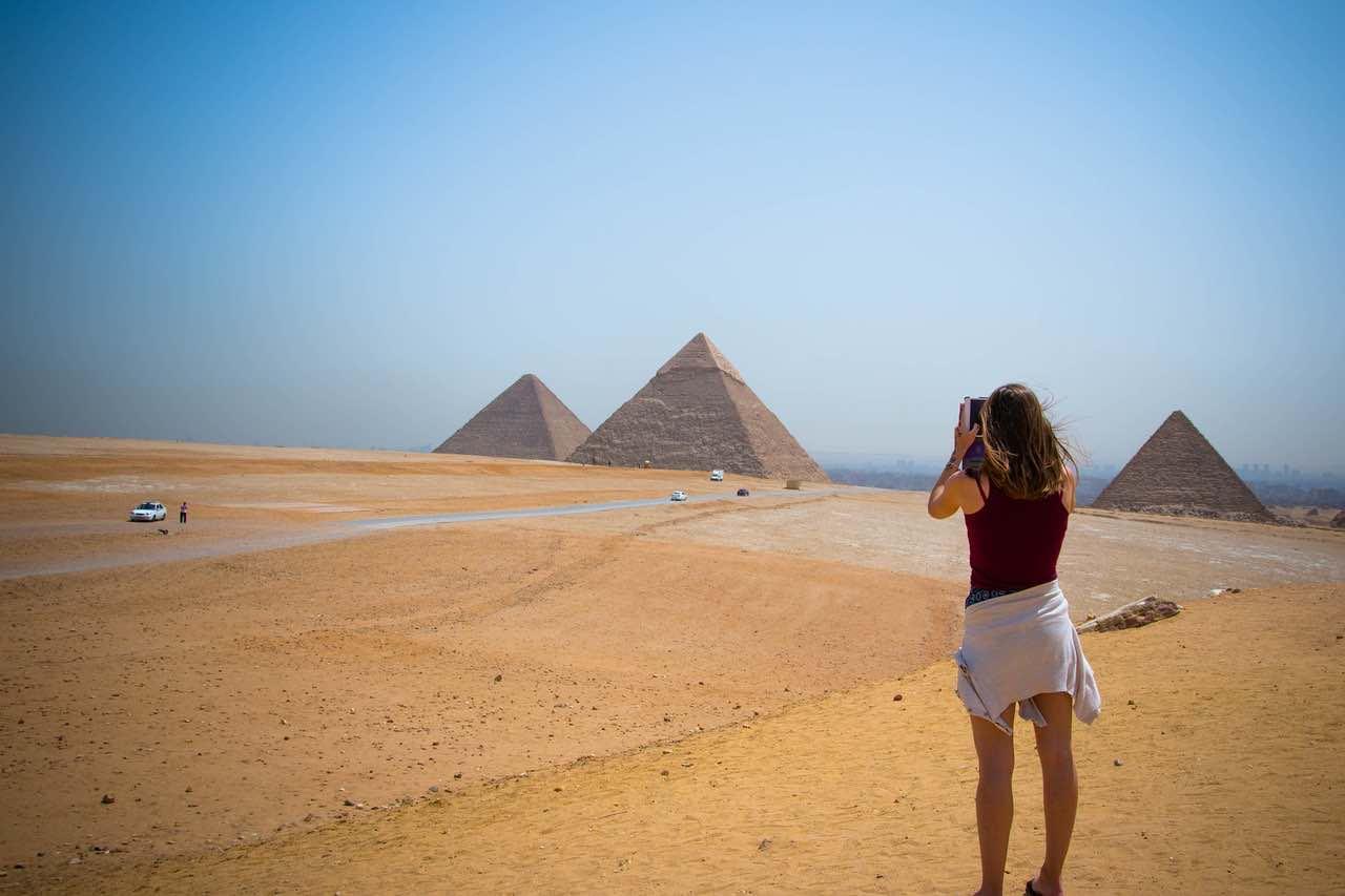 Egipto - Visite la Gran Pirámide de Giza.