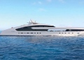 Proyecto Comète, un superyate de lujo de 272 pies con una piscina con fondo de cristal y dos jacuzzis