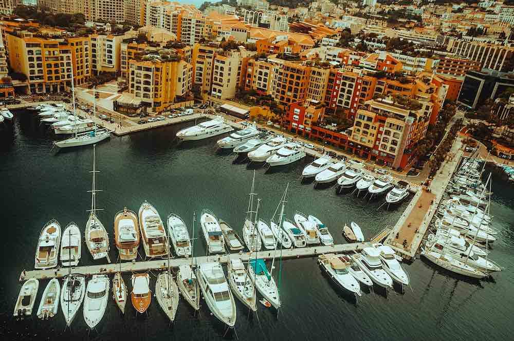 barcos en el puerto de Mónaco