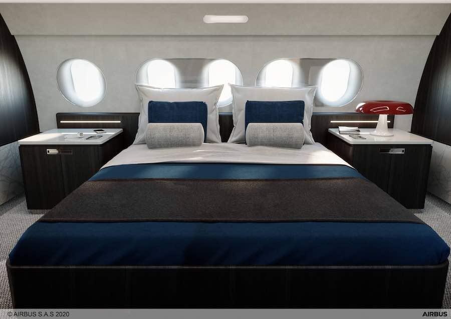 Revelan concepto de cabina VIP con seis áreas de estar, cine privado y suite principal con cama king.