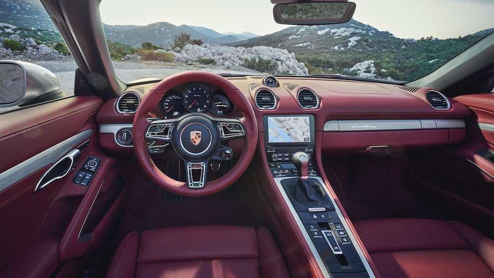 Interior del Porsche Boxster 25º Aniversario