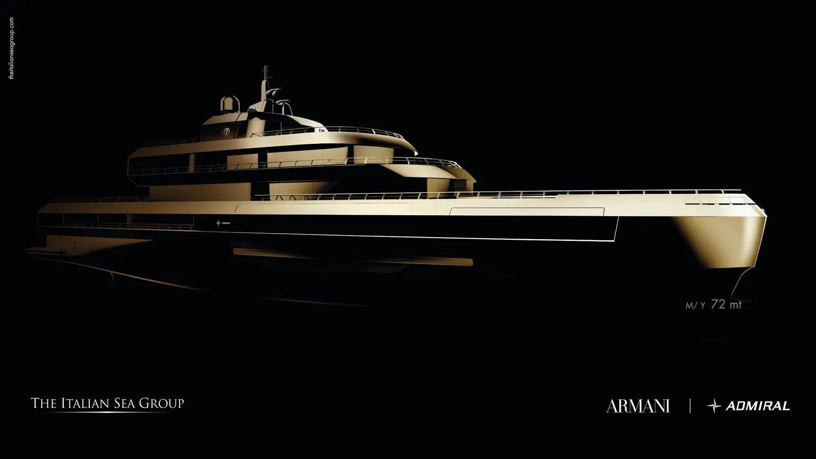 Giorgio Armani se asocia con The Italian Sea Group en un proyecto de superyate de 72 metros