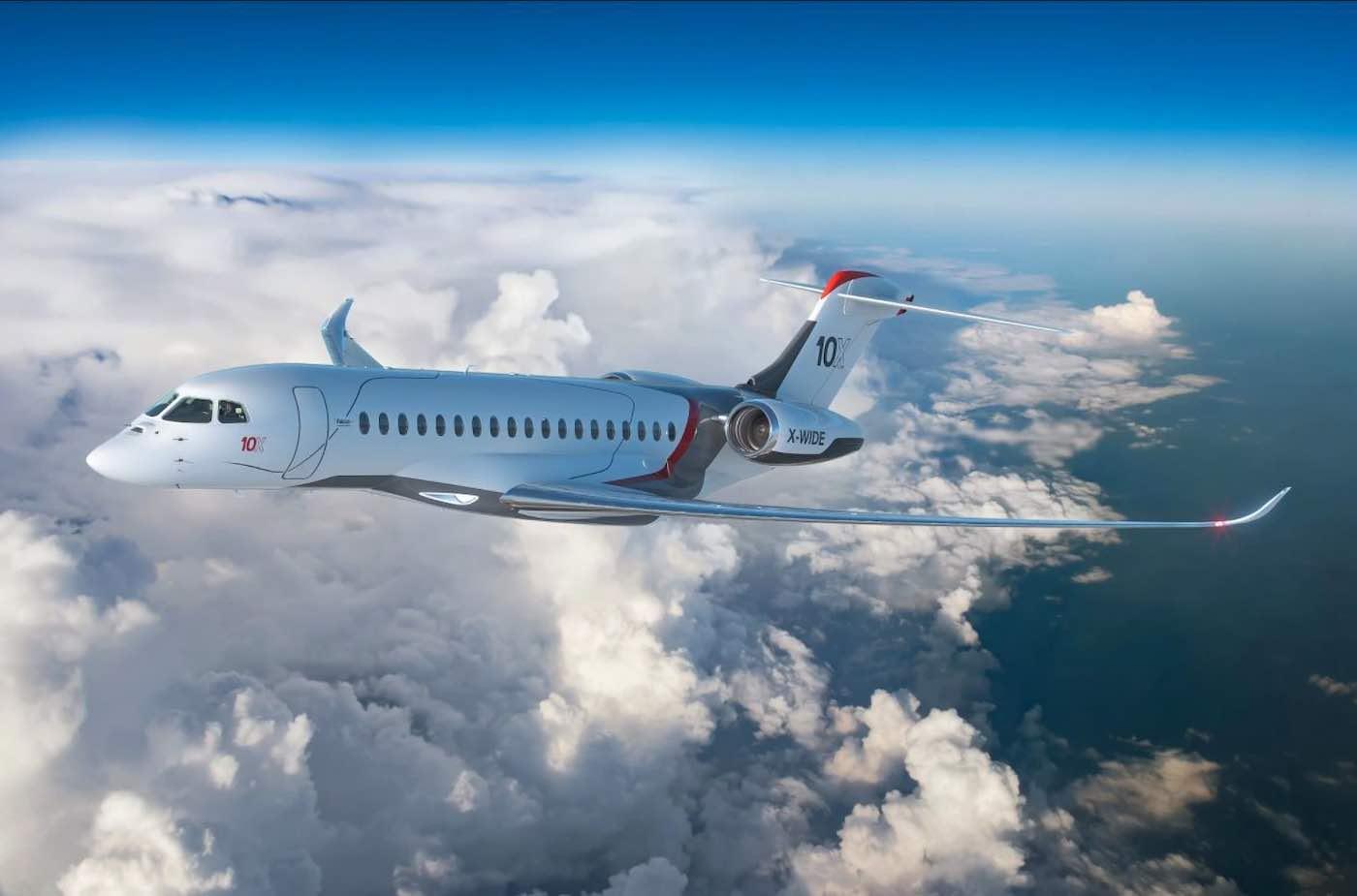 ¡Para volar a lo grande! El nuevo jet de negocios Falcon 10X está aquí con la cabina más grande de su clase