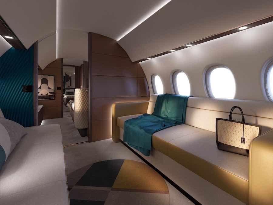 El nuevo jet de negocios Falcon 10X está aquí con la cabina más grande de su clase