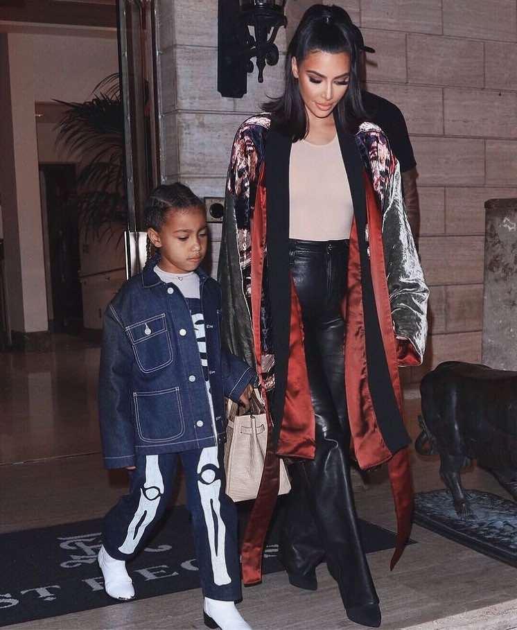 North West y Kim Kardashian