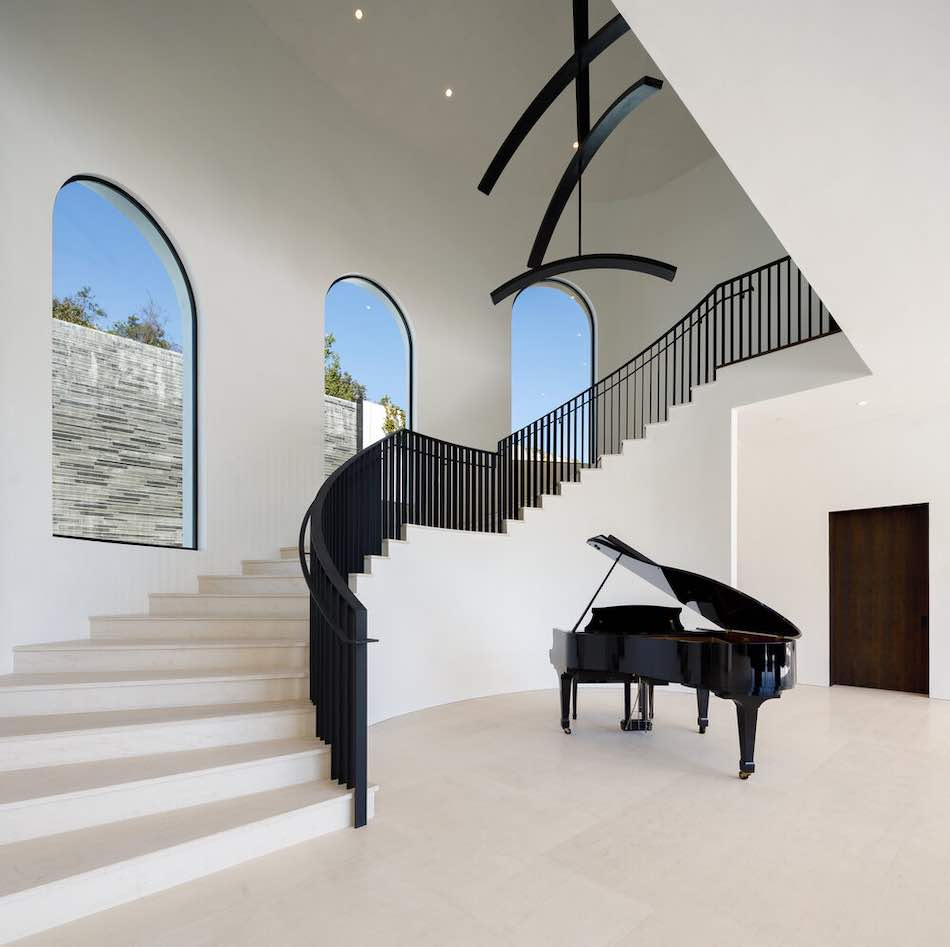 Interior de la hermosa casa en Lo Ángeles.