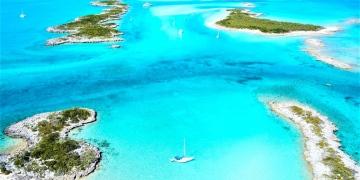 Allen's Cay en las islas Exuma de las Bahamas