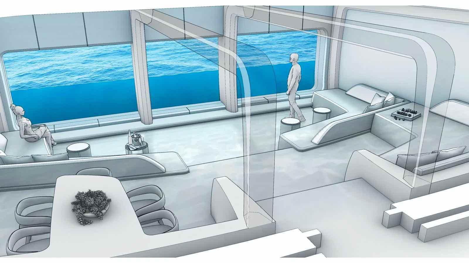 Salón Neptuno con vista submarina