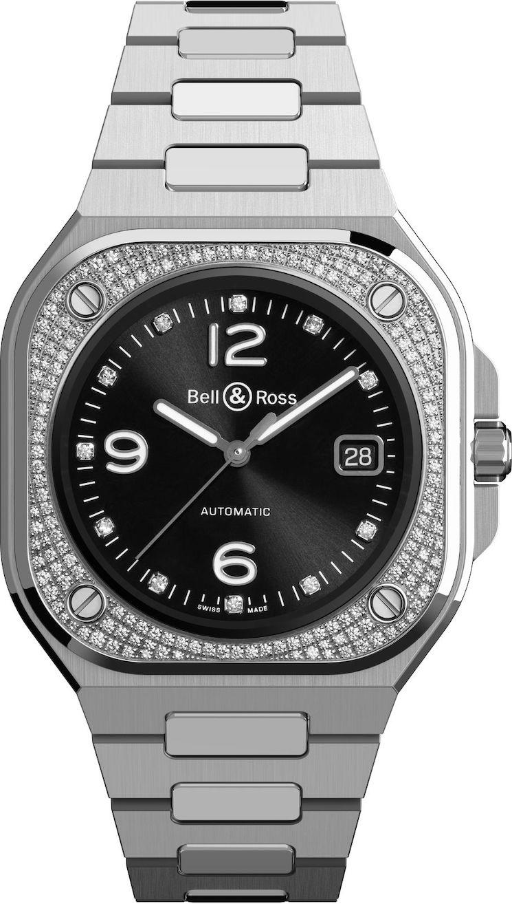 Un reloj con diamantes