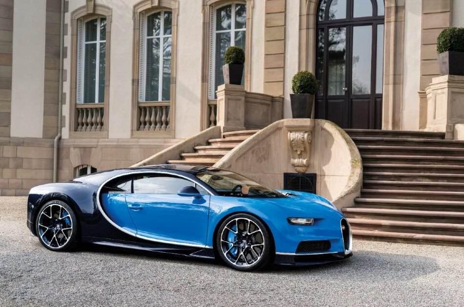 Bugatti Chiron Sport Azul