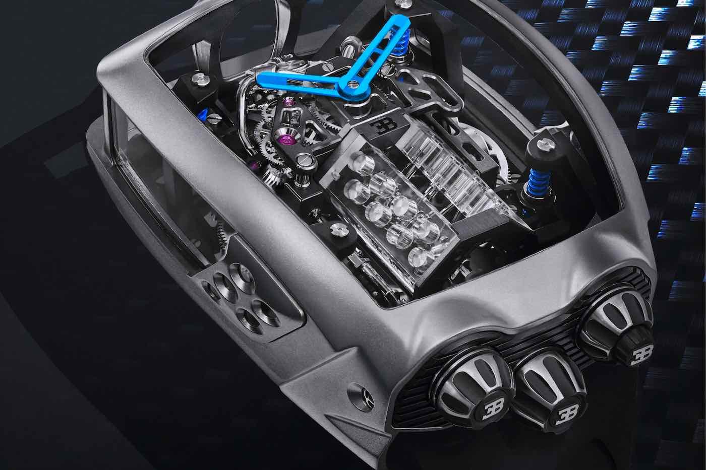 El primer reloj Bugatti inspirado en el Chiron llega al mercado, ahora disponible en JamesEdition