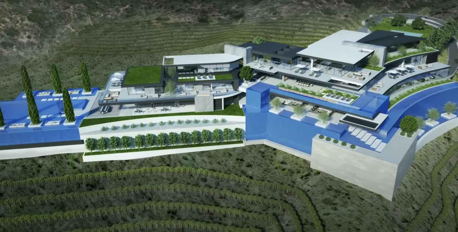 Esta mega mansión de $250 MILLONES y 78.000 pies cuadrados se encuentra en construcción en Beverly Hills, L.A.