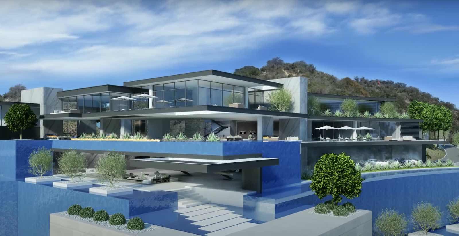 Esta enorme propiedad de 78.000 pies cuadrados se encuentra en construcción en Beverly Hills, L.A.