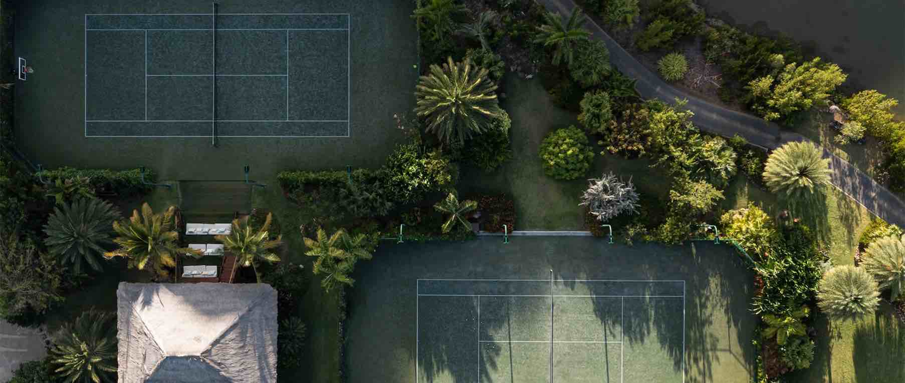 Canchas de tenis en The Branson Estate