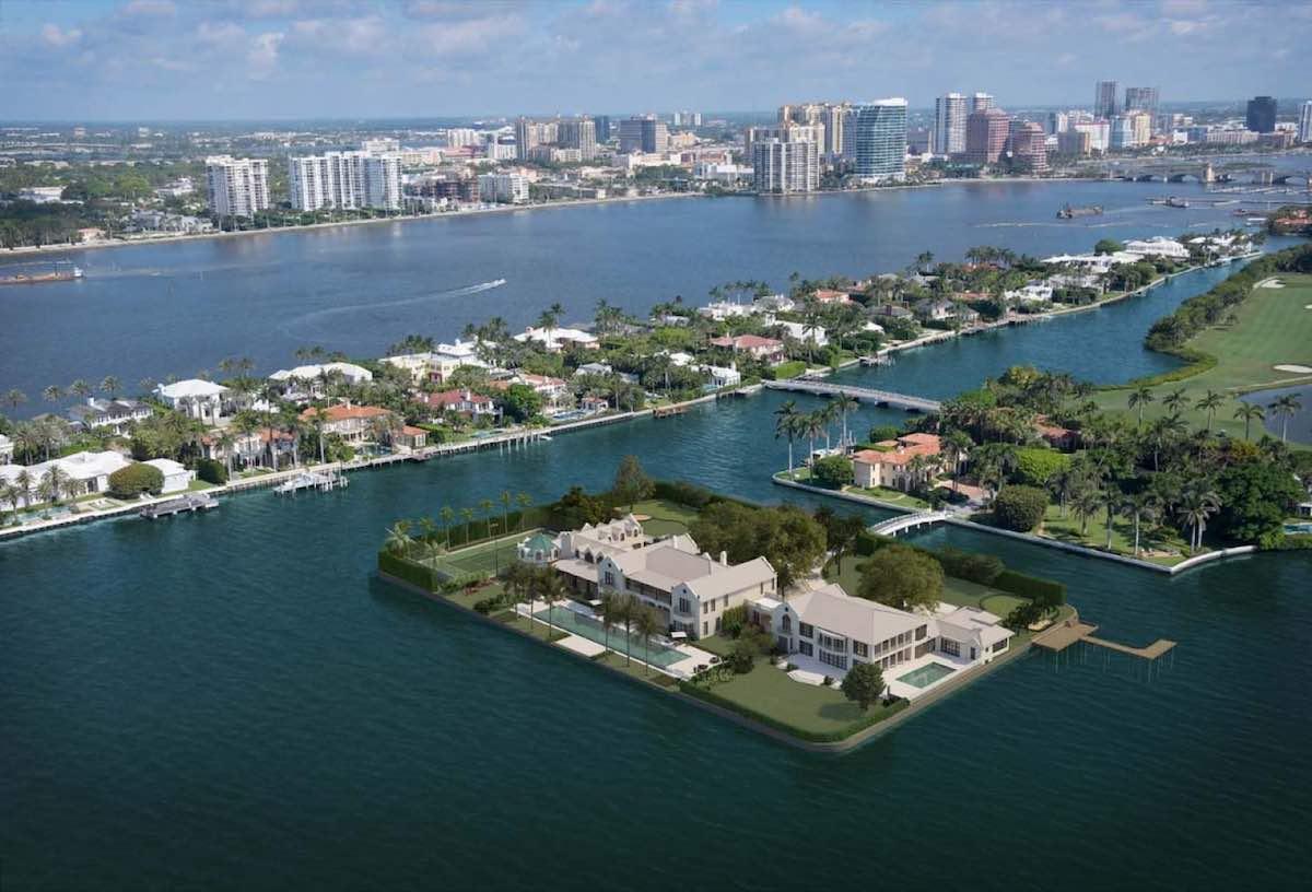 La icónica mansión de Tarpon Island en Palm Beach regresa al mercado con un precio de $120 millones