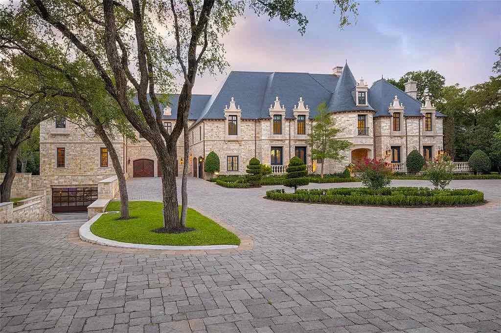 Esta casa de inspiración francesa de 18 millones de dólares en Dallas, Texas, está en el mercado