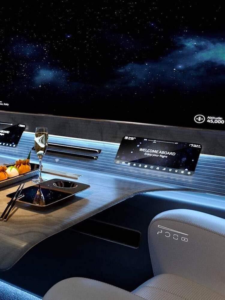 Esta podría ser la cabina del jet privado del futuro