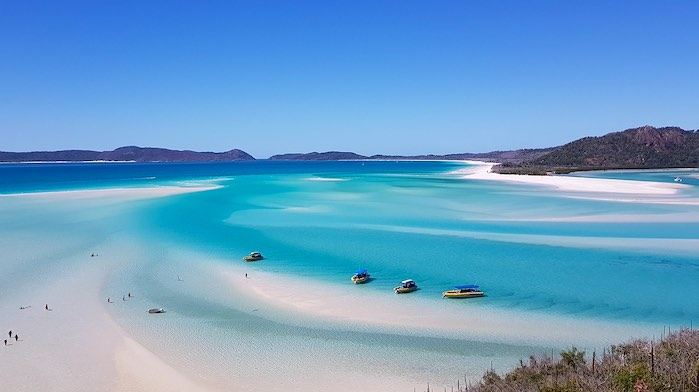 Playa Whitehaven: Uno d los 50 lugares más hermosos del mundo que debes visitar antes de morir.