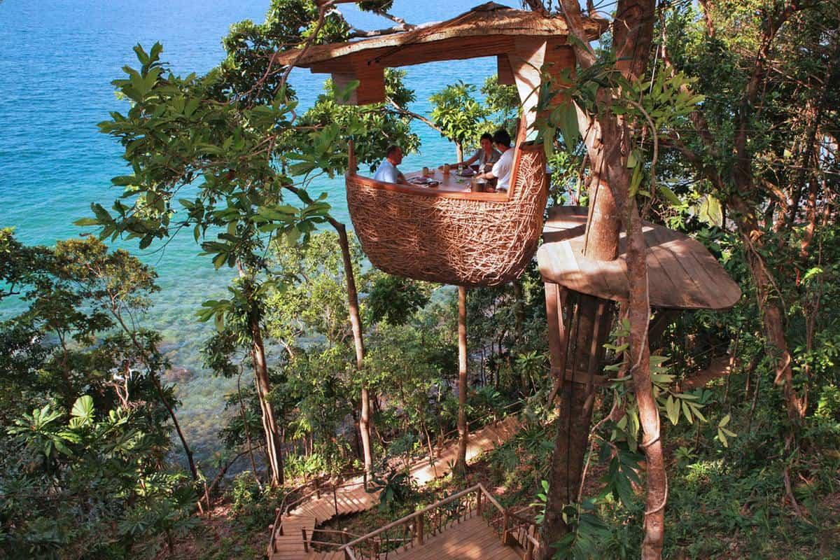 Soneva Kiri Treepod Dinner, en el Top de los restaurantes más inusuales en el mundo.