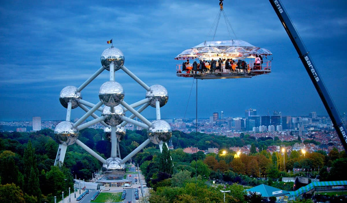 Dinner In The Sky en Bruselas