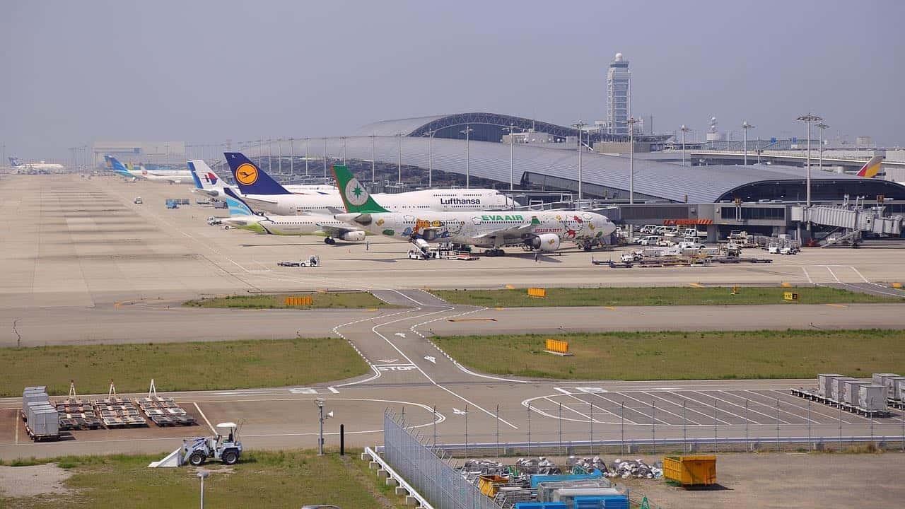 Aeropuerto Internacional de Kansai en Osaka, Japón